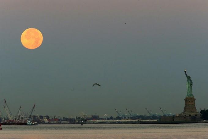 Dominicanos no pudieron ver eclipse lunar en Nueva York por intenso frío polar y gélidos vientos