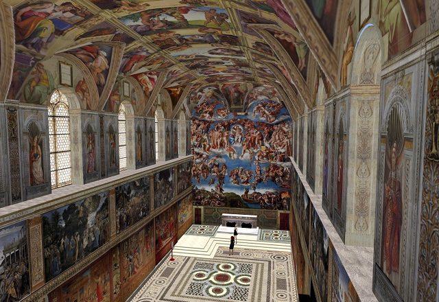 Visita a Capela Sistina em Roma