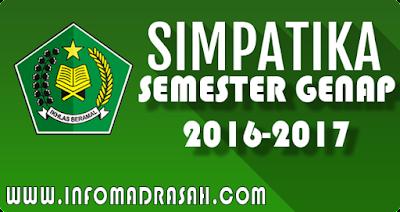 Simaptika Kemenag Semester Genap 2016-2017
