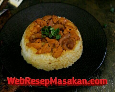 Nasi tim ayam jamur ncc, Resep Nasi Tim Ayam Jamur, Cara membuat nasi tim ayam jamur enak,