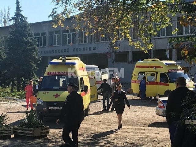 Трагедия в Керчи: взрыв в колледже унес жизни десяти человек (5 фото + 1 видео)