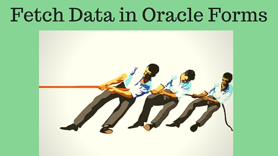 Oracle Forms Execute Query Example using Execute_query