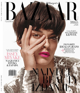 """""""Structure Becomes"""" Crystal Renn for Harper's Bazaar Serbia May 2016"""