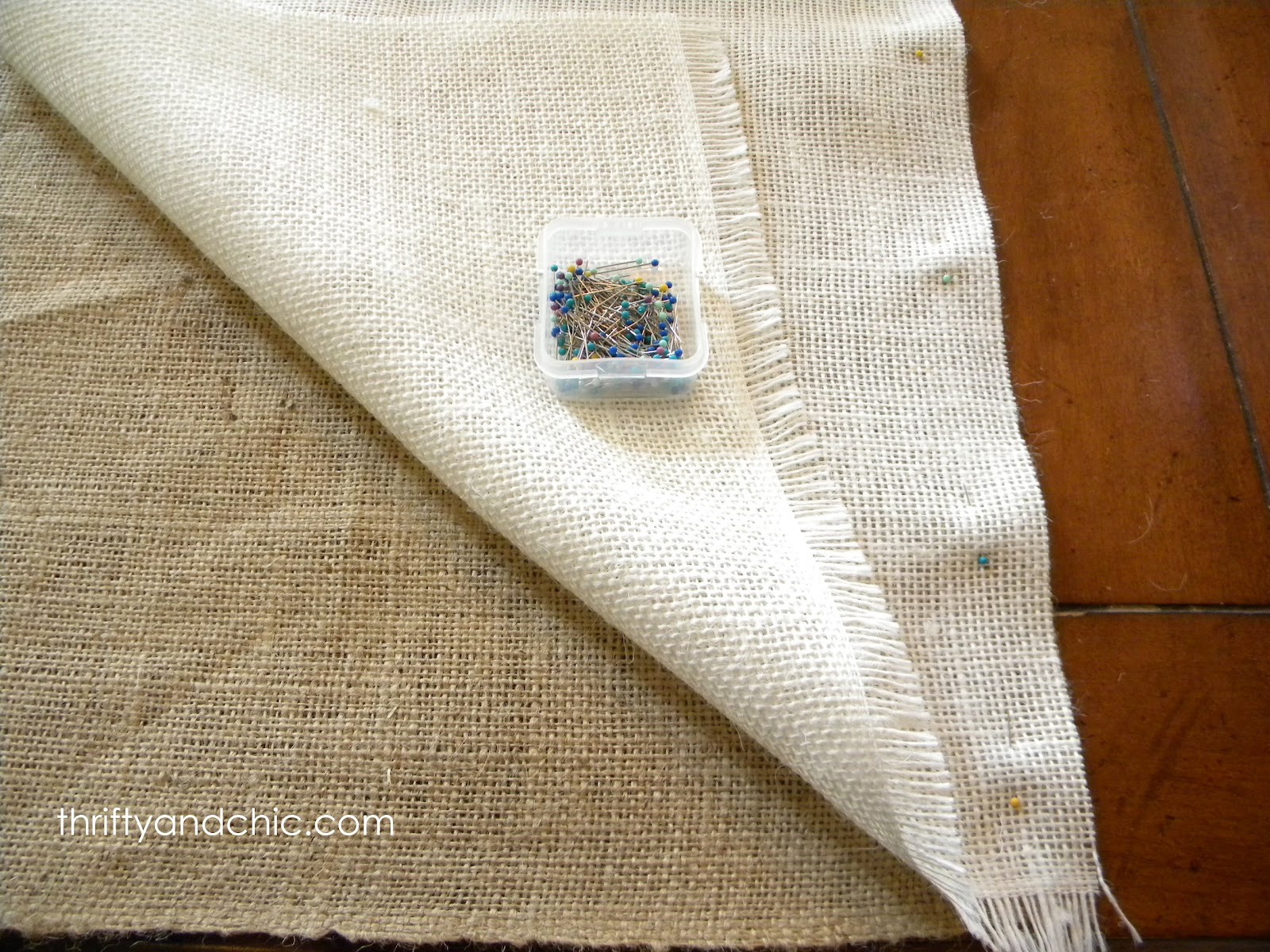how to make lined burlap curtains