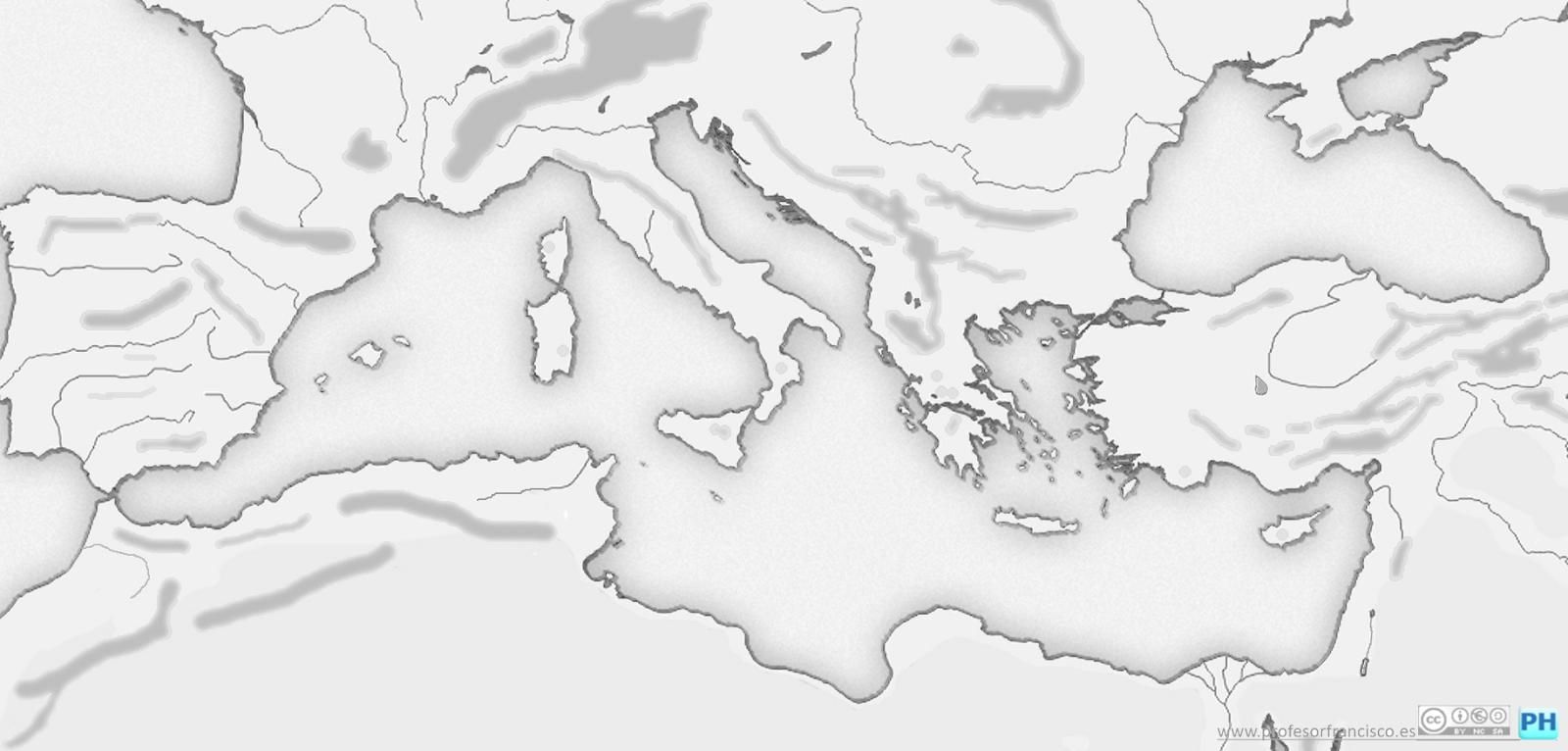 Mapa Imperio Romano Mudo.Profesor De Historia Geografia Y Arte Mapas Mudos De La