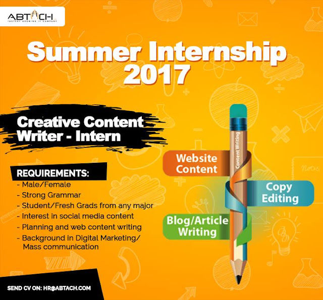 summer writing internships