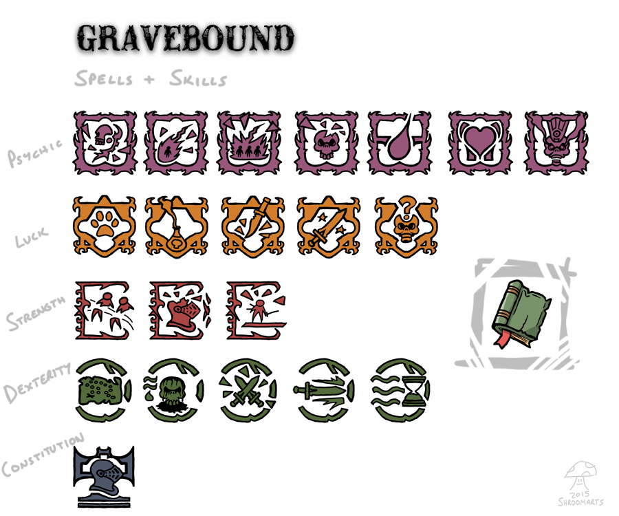 gravebound spells and skills