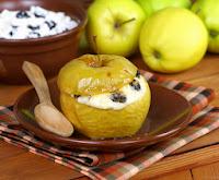 Manzanas con merengue