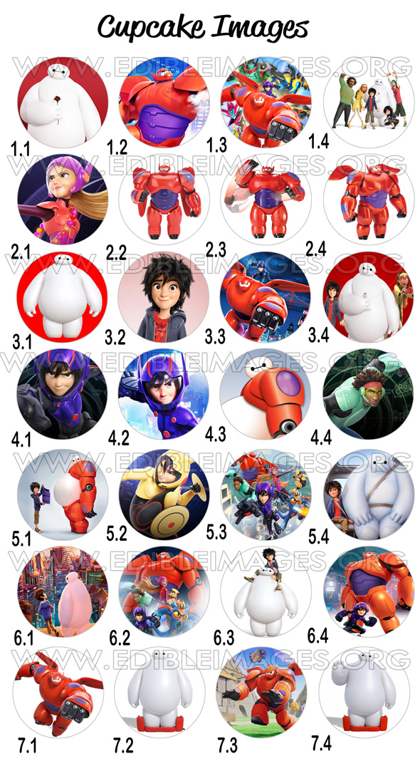 EDIBLE IMAGE BIG HERO 6