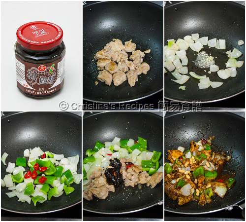 Stir Fried Chicken with Sweet Bean Sauce Procedures