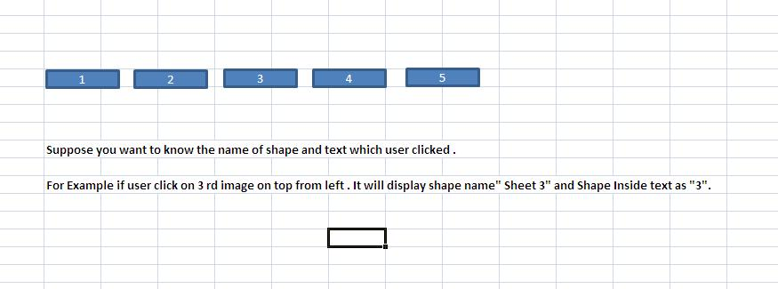 Excel VBA Codes & Macros: Print the Shape Name and Text You Clicked