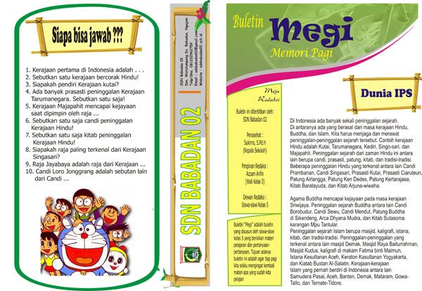 buletin majalah sekolah