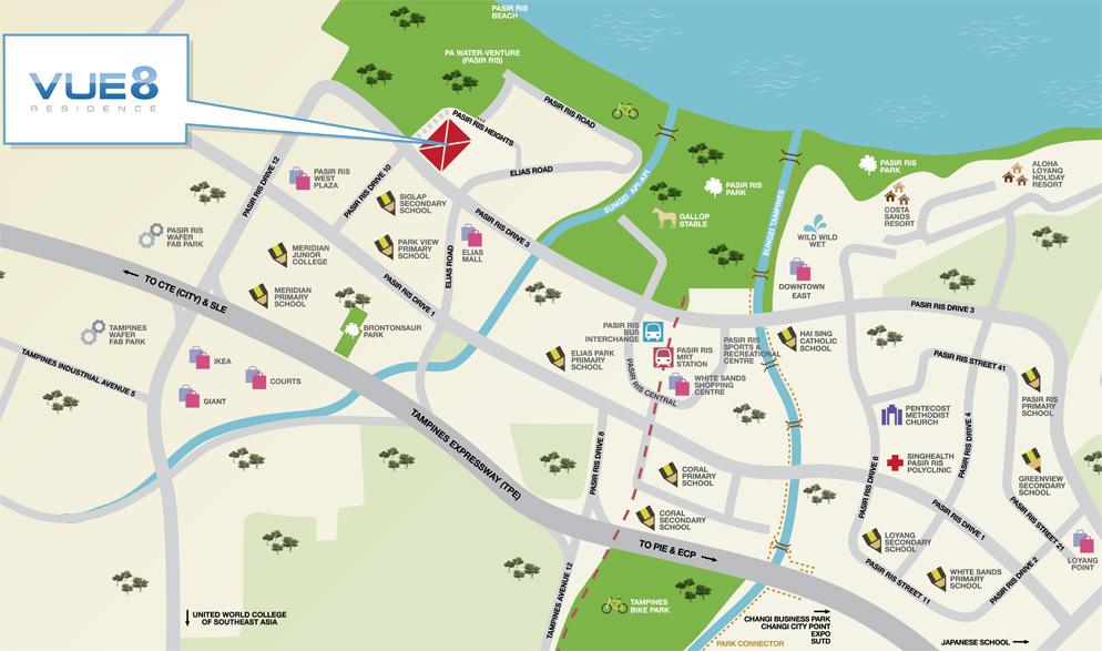 Vue 8 Residence Location Map