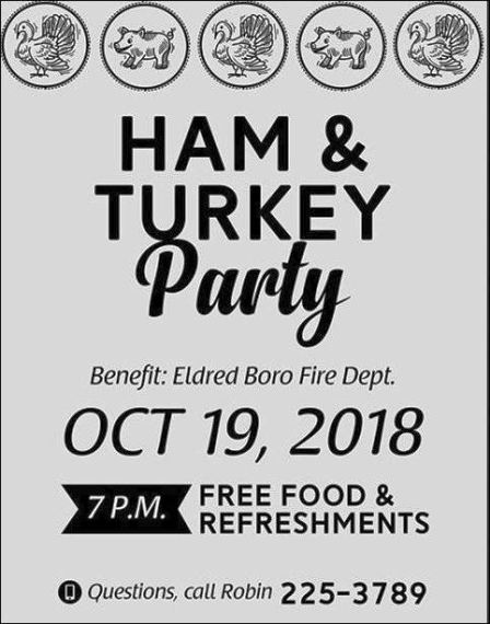 10-19 Ham & Turkey Party, Eldred Boro VFD