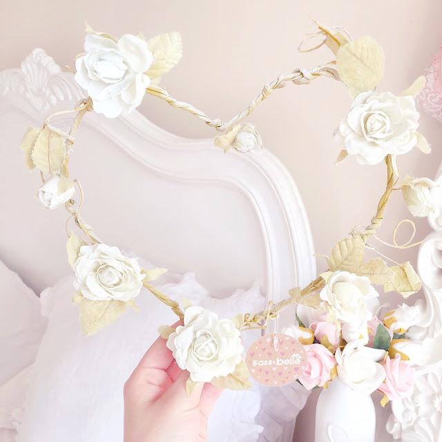 Homeware Haul | Sass & Belle Rose Heart Wreath