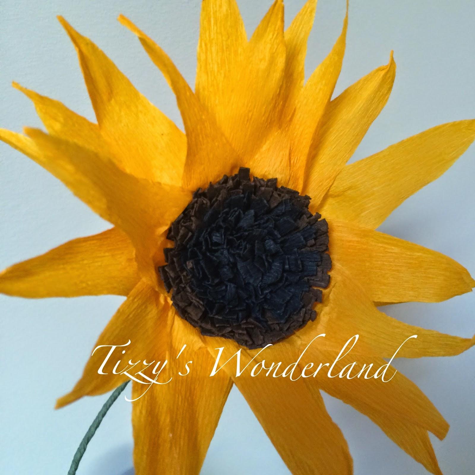 Popolare Tizzy's Wonderland: Tutorial - Fiori di Carta Crespa - GIRASOLE  WD79