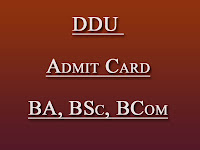DDUGU Admit Card  2017 BA, BSc, BCom at www.ddugu.edu.in