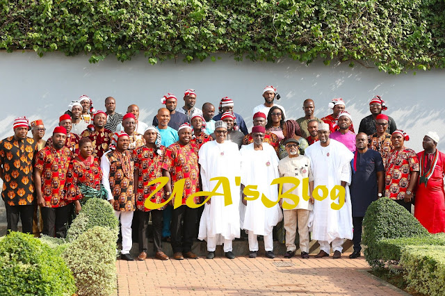 Buhari Meets Ohanaeze Ndigbo Youth Wing, Asks Them To Prepare For Leadership [PHOTOS]