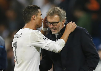 Ronaldo and Laurent Blanc