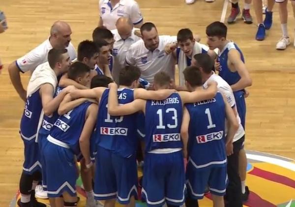 ΕΟΚ | Εθνική Παίδων: Εσθονία-Ελλάδα 66-83 Πρόκριση στους οκτώ (8) του Ευρωπαϊκού. Κωστόπουλος: «Τους ευχαριστώ και τους αγαπώ όλους!»