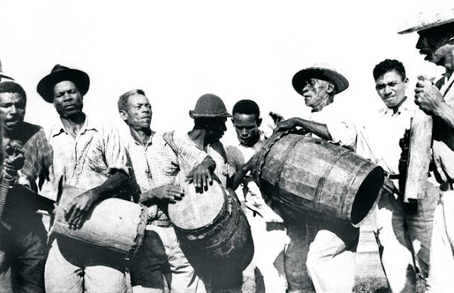 Banda de Congos de Manguinhos, Serra, anos 1950.
