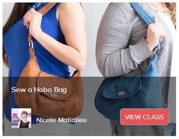 Sew a Hobo Bag Creativebug class by Nicole Mallalieu