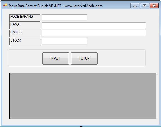 Membuat Format Mata Uang atau Currency Pada VB .NET