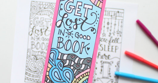 Beautiful Bookmarks to Print and Color for FREE!