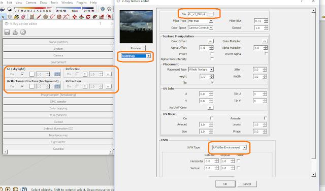 Cara setting Enviroment pada sketchup HDRI
