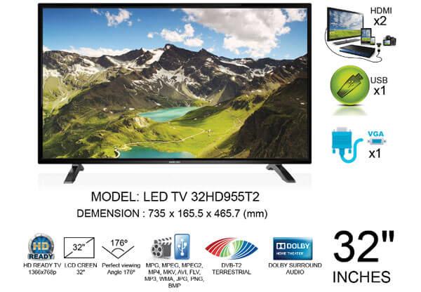 Tính năng TIVI DARLING LED 32 INCH 32HD955T2