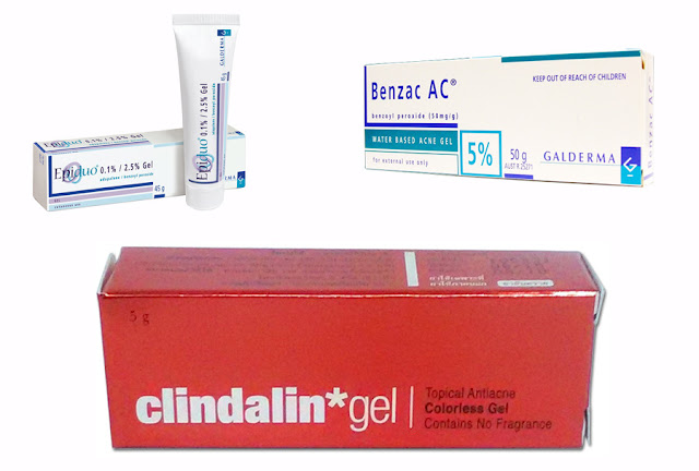 Epiduo , Benzac ac 5% , Clindalin gel