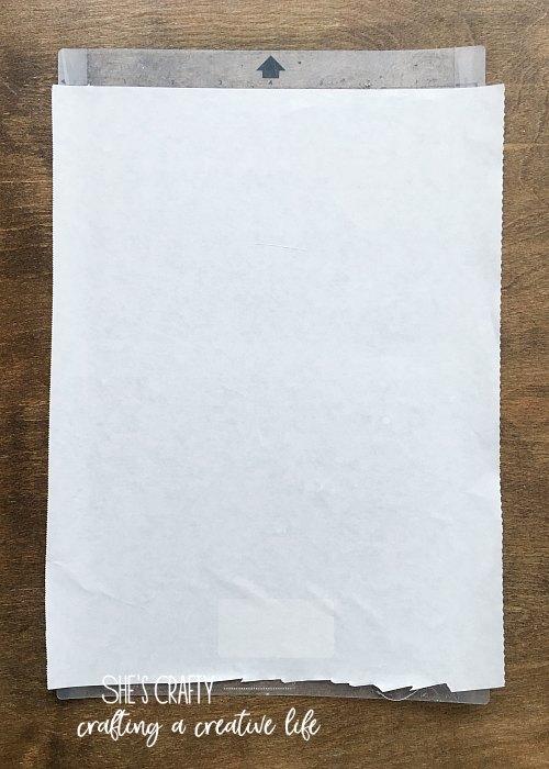 freezer paper, stencil