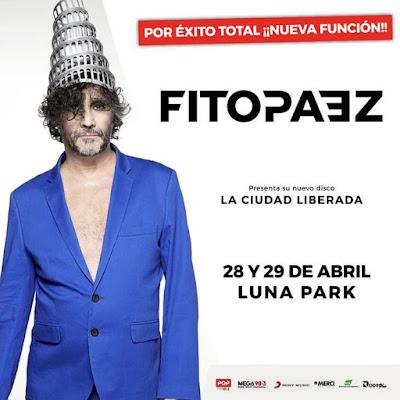 Fito Páez nueva función en el Luna Park.