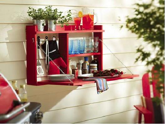 DIY - Πτυσσόμενο τραπέζι – ραφιέρα από ξύλο!