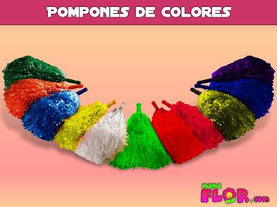 Como hacer pompones de colores manualidades paso a paso for Como hacer color verde