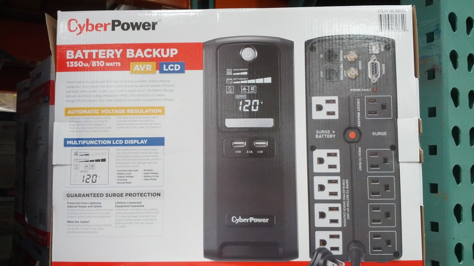 Cyberpower CST135XLU Battery Backup | Costco Weekender