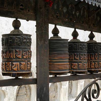 Molinillos de oración de Swayambhunath