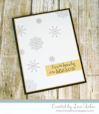 Enjoy the Beauty of the Season card-designed by Lori Tecler/Inking Aloud-stamps from Lil' Inker Designs