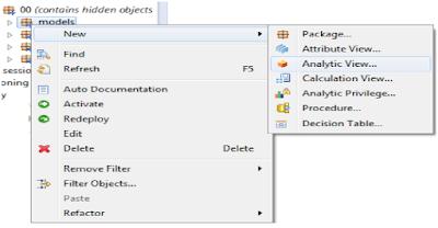 SAP HANA Analytical view