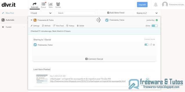 dlvr.it : un outil web pour publier son contenu sur les réseaux sociaux