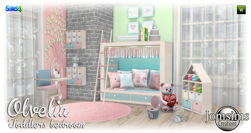 Olvelia Toddleru0027s Bedroom Set By JomSims