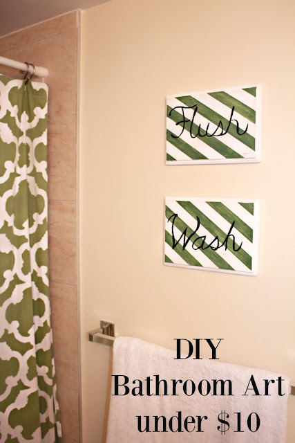 DIY Bathroom Art (under $10) #SCOTT100More #ad