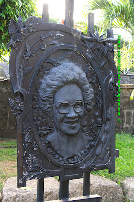 Corazon Aquino, Bronze relief plaque, Intramuros, Manila, Philippines
