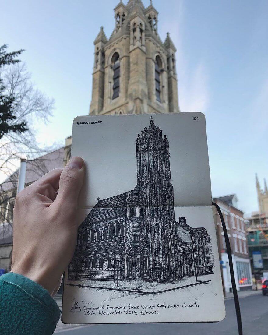 01-Church-in-Cambridge-Alex-Pantela-Ink-Urban-Architectural-Drawings-www-designstack-co
