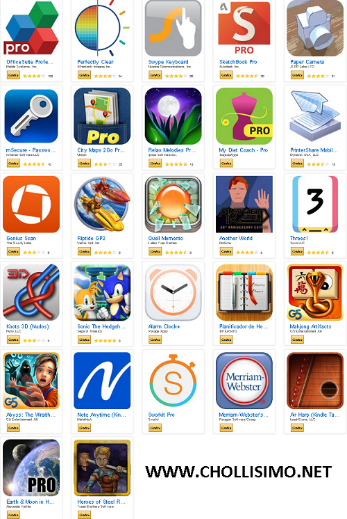 GRATIS Pack de 27 APPs Valoradas en 120€