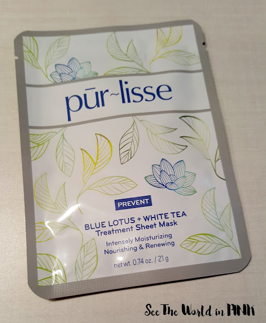 purlisse beauty blue lotus and white tea sheet mask