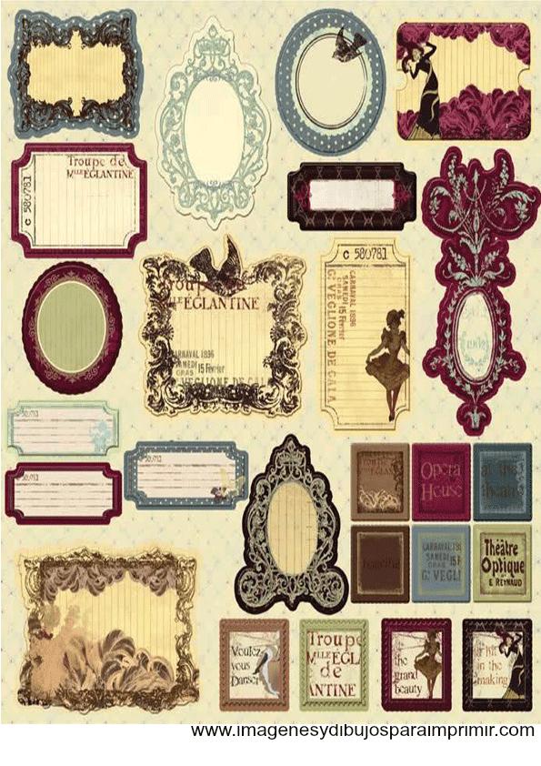 Etiquetas Vintage Para Imprimir Gratis Imagenes Y Dibujos Para