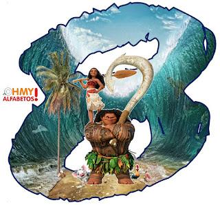 Abecedario de Maui y Moana. Maui and Moana Alphabet.