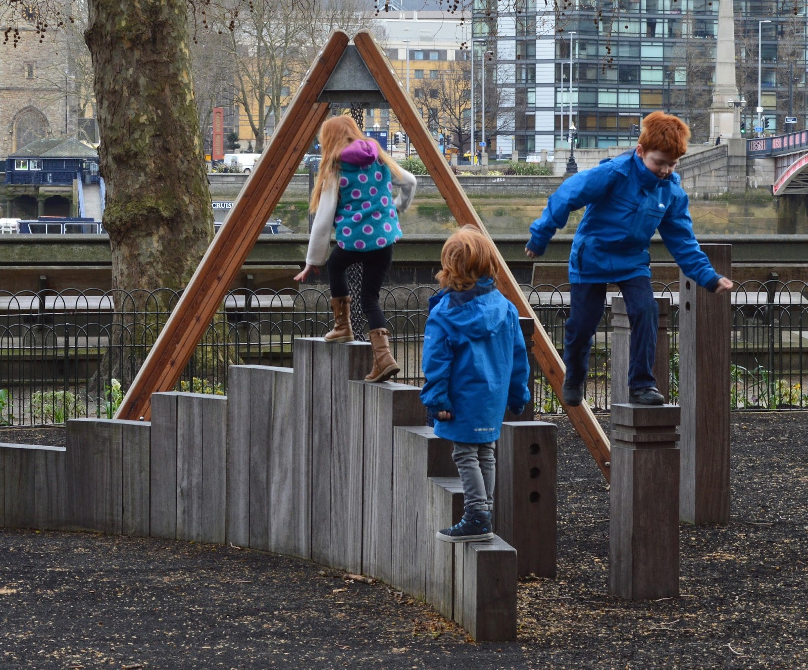 A family day trip to London with Virgin Trains East Coast - Victoria Tower Gardens Playground