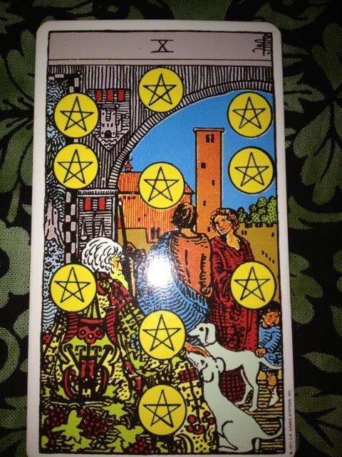 Lady Oracle Tarot: Tarot's Ten Of Cups And Ten Of